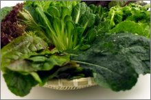 leafy green vegetables